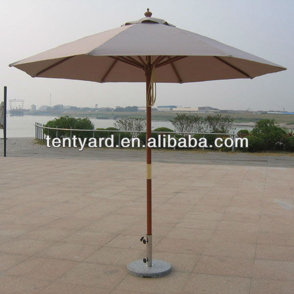 outdoor new design round garden wooden parasol