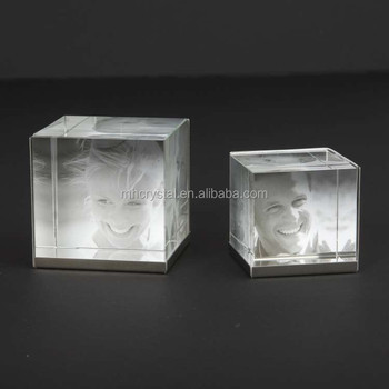 Crystal Glass Cube Photo Frame Mh 0077f Buy Crystal Cube3d Laser