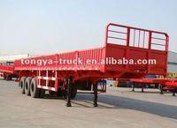 tri-axle drop side semi trailer