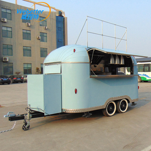 2018 hot new products hamburgers food truck mobile trailer ice cream cart refrigerator gold supplier