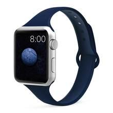 Силиконовый ремешок для Apple Watch 38 мм 42 мм iWatch 4 ремешок 44 мм 40 мм спортивный ремень браслет correa Apple watch 5 4 3 2 аксессуары(Китай)