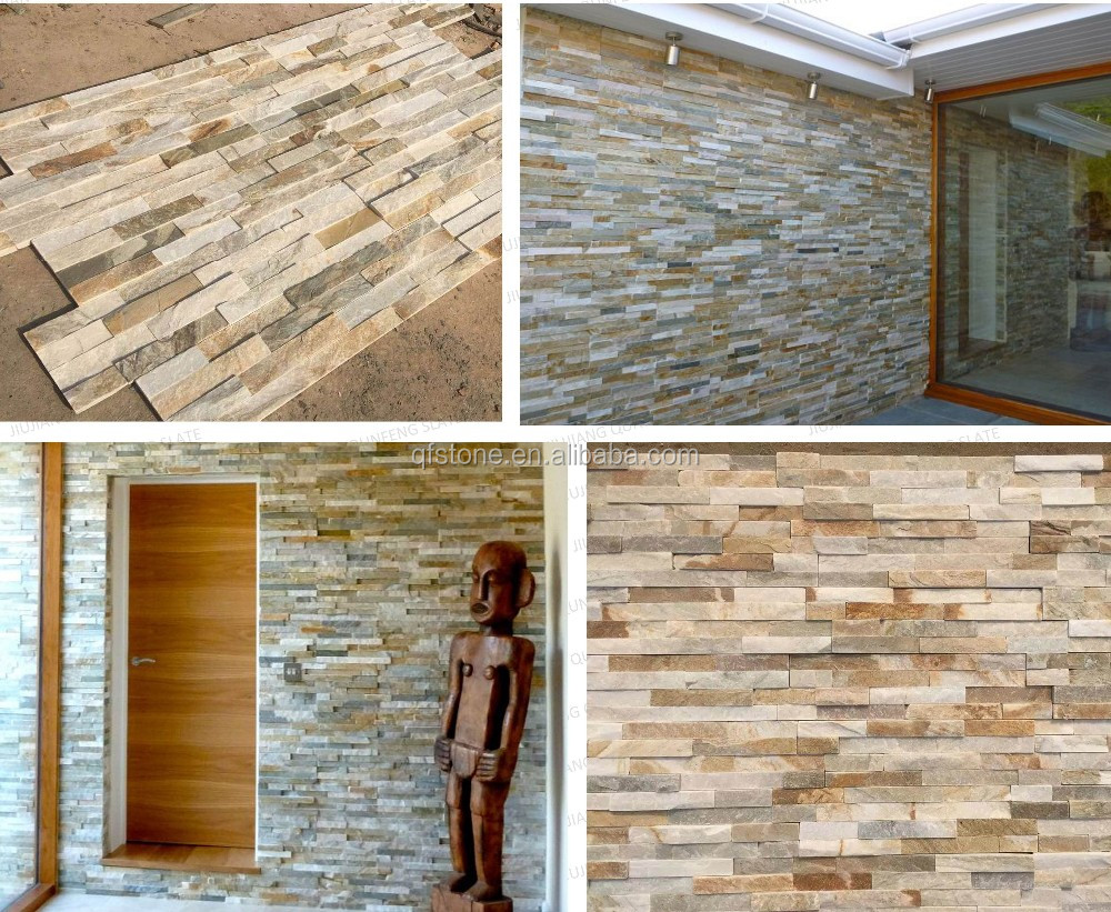 Home Depot Stone Wall split surface antacid nature slate wall panel home depot