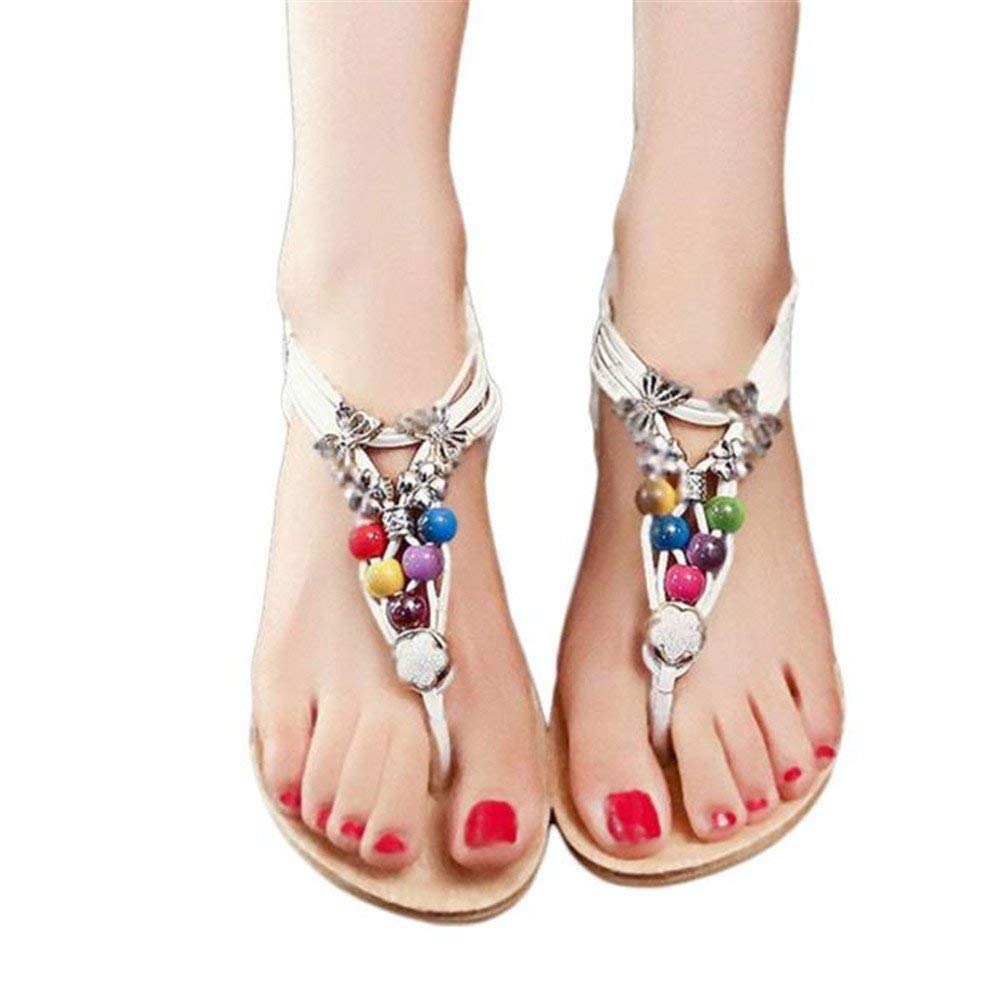 baa043582acaf Get Quotations · Faber3 Hot Sale Sandals for Women-Bohemia Sandals Beaded Sandals  Clip Toe Sandals Beach Shoes