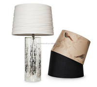 Narrow Mercury Glass table lamp with luxury replaceable shade