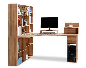 New Style Computer Table With Study Table With Bookshelf