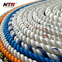 8-ply thick braided rope used in mooring and marine