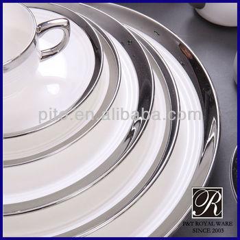 PITO porcelain dinnerware white silver & Pito Porcelain Dinnerware White Silver - Buy Porcelain Dinnerware ...