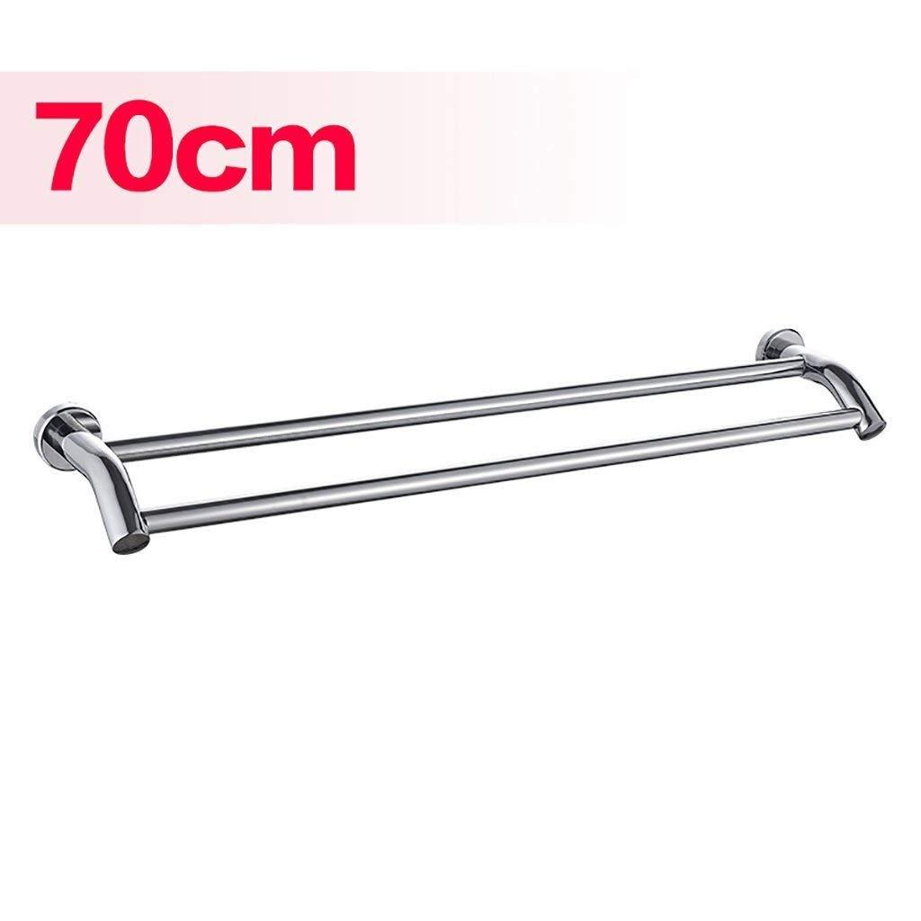 EQEQ Bath Rooms Shelf 304 Stainless Steel Towel Rail/Bath Towel Holder Double Rooms/Bath Rooms Creative Towel Rail (Size: 80 cm).
