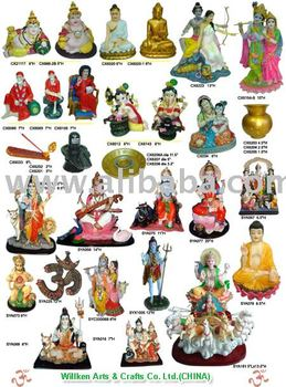 Polyresin Indian God, Hindu God Statues, Pooja Products (Sun God)