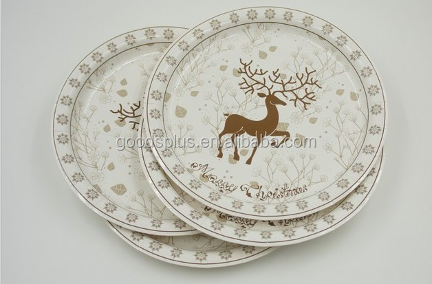 Golden solid color paper plate good quality disposable plates & Golden Solid Color Paper Plate Good Quality Disposable Plates - Buy ...