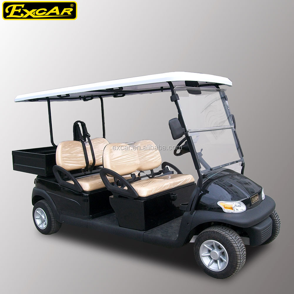 Excar 4 Seater Electric Golf Cart Trojan Battery Buggy Club Car Golf