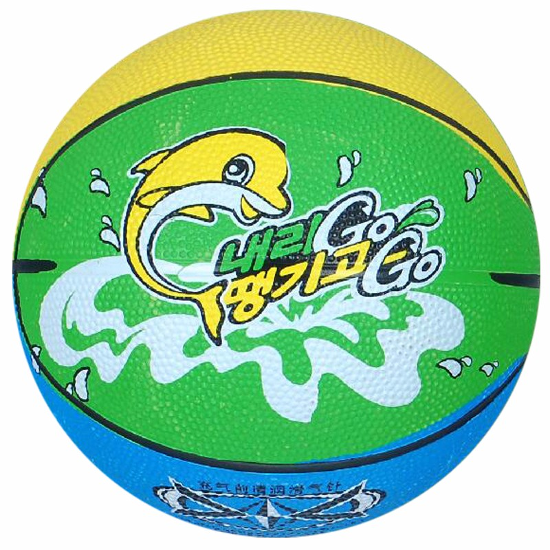 Kids Carton design rubber basketball with size 4 size 3