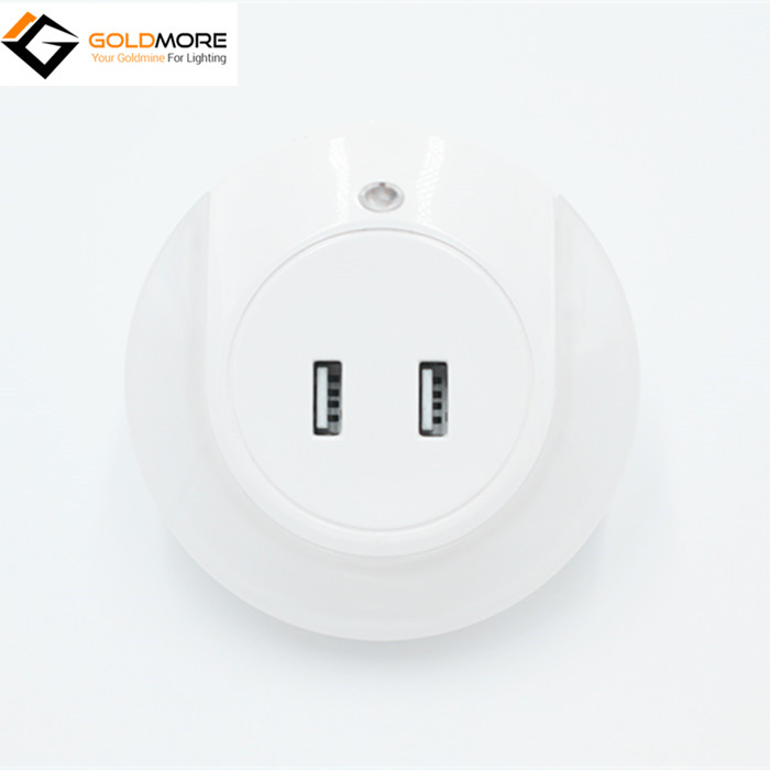 2017 Hot Sale Dual USB Output Induction Charger Socket LED Night Light