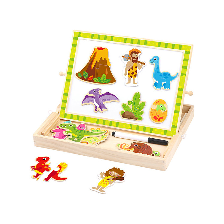 Innovative Product Toy Wooden Magnetic Puzzle - Dinosaur