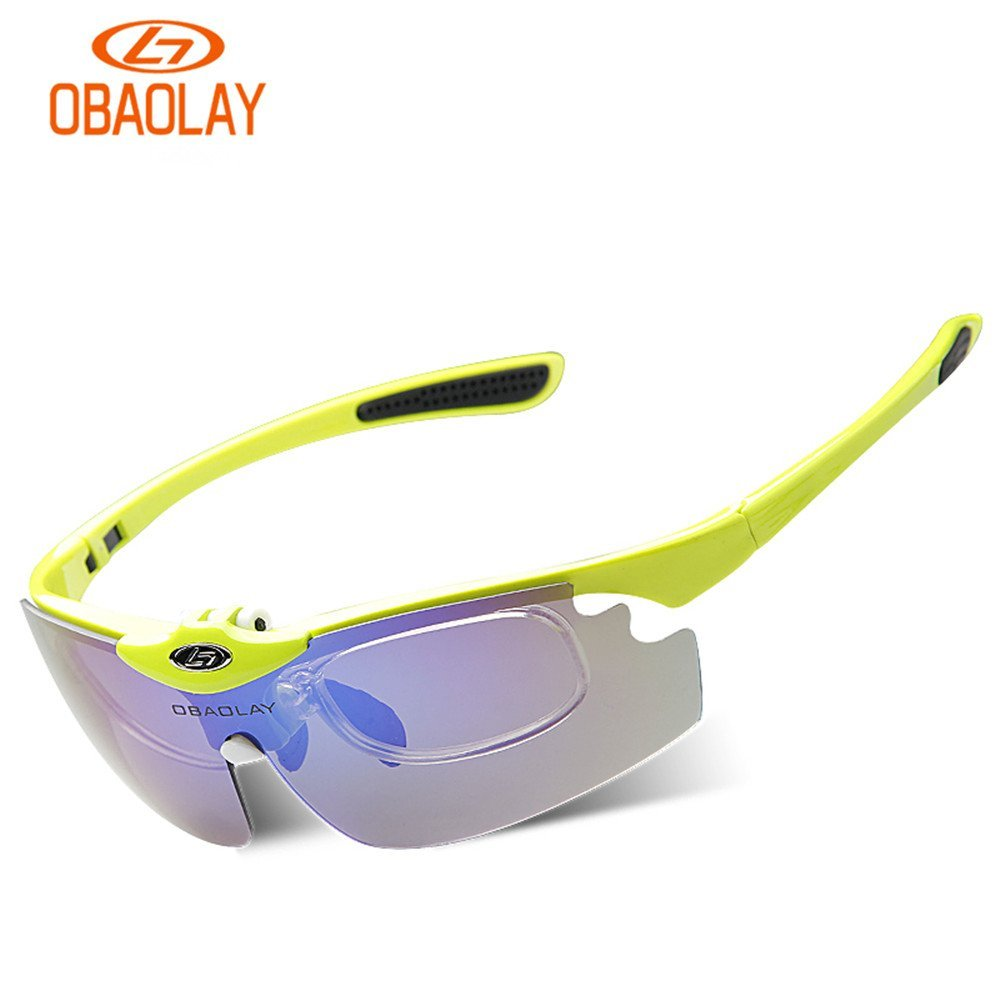 663365c620 Obaolay Polarized Casual Upturned Sunglasses UV400 Outdoor Sports Sun  glasses MTB Motorbike Glasses Goggles SP0880 With