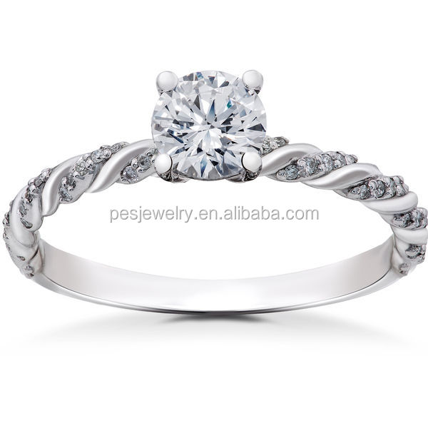 PES Fashion Jewelry! Lab Grown Round Eco Friendly Diamond Engagement Ring (PES6-1808)