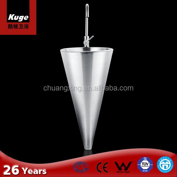 Cone Shaped Bathroom Stainless Steel Pedestal Sink   Buy Pedestal Sink,Stainless  Steel Pedestal Sink,Bathroom Stainless Steel Pedestal Sink Product On ...