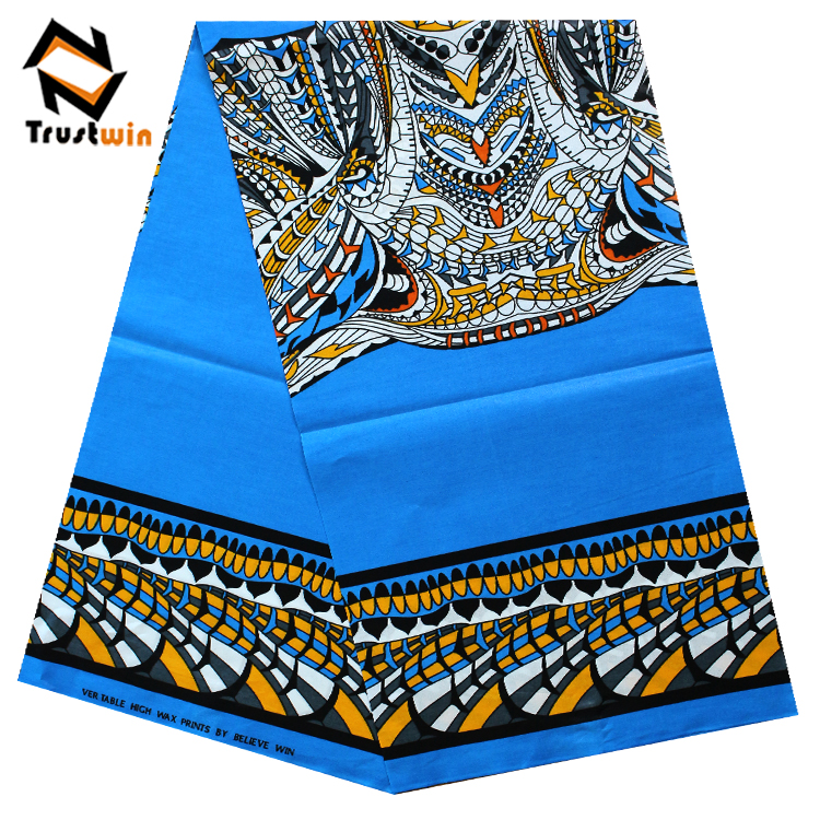 Guangzhou digital printing in cotton fabric African Ankara Wax Print 100% cotton
