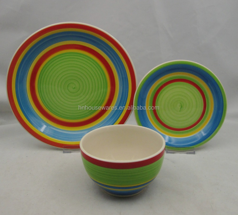 18pcs ceramic dinnerset with nice printing for homeuse.