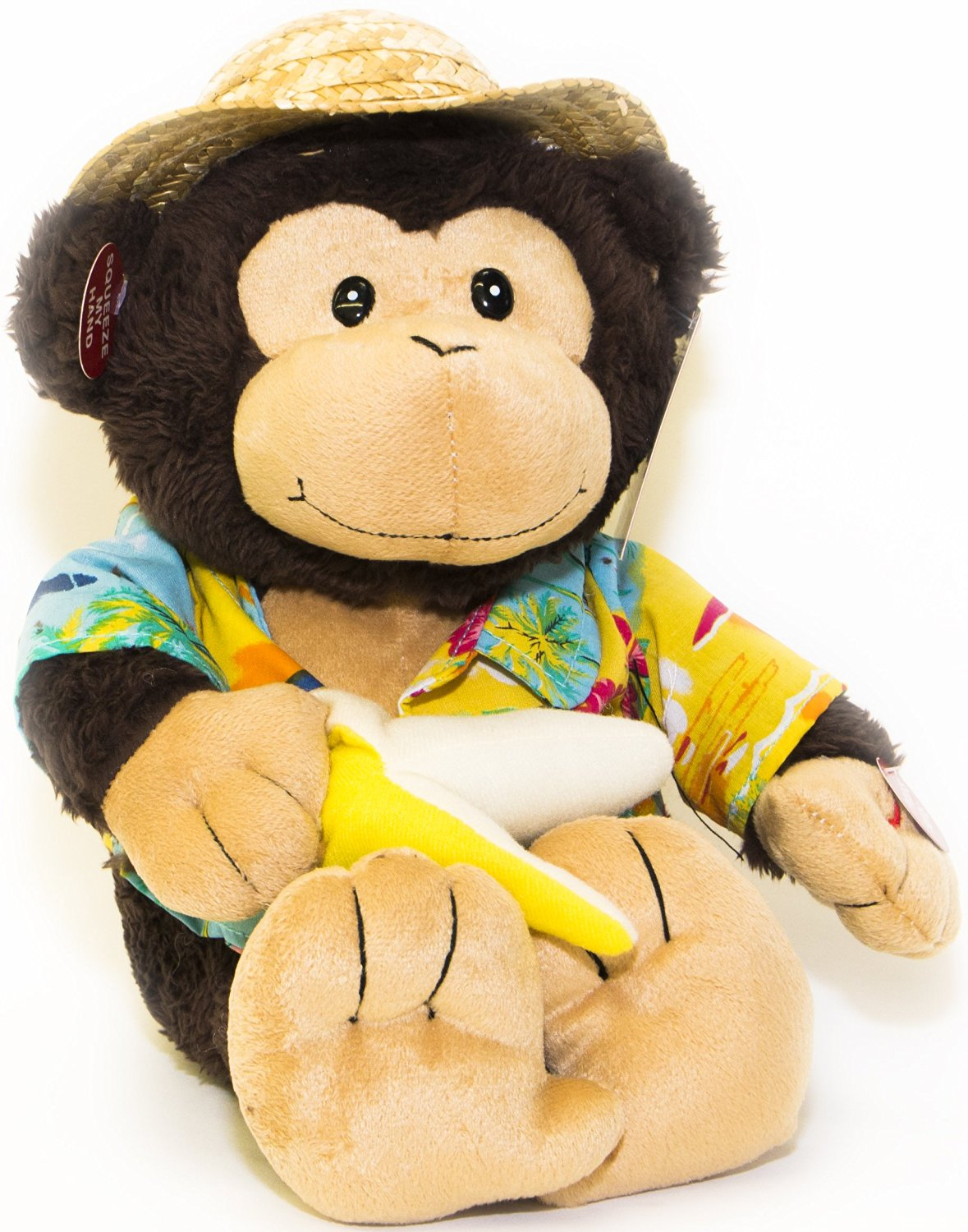 Cuddle Barn New Collection Animated Plush Singing and Dancing Monkey- Banana Boat Bruno