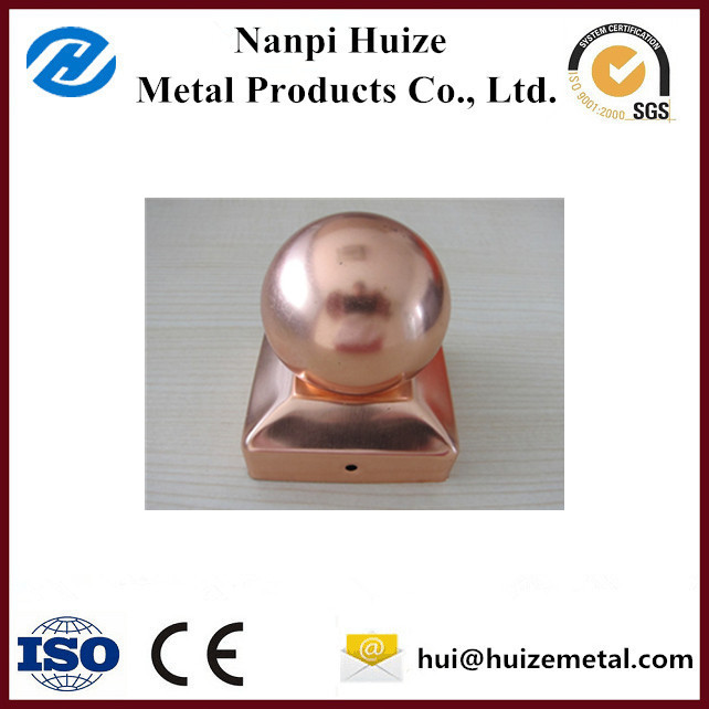 China Supplier Customized Fence Post Caps Copper Steel Post Caps 6x6 Post Caps