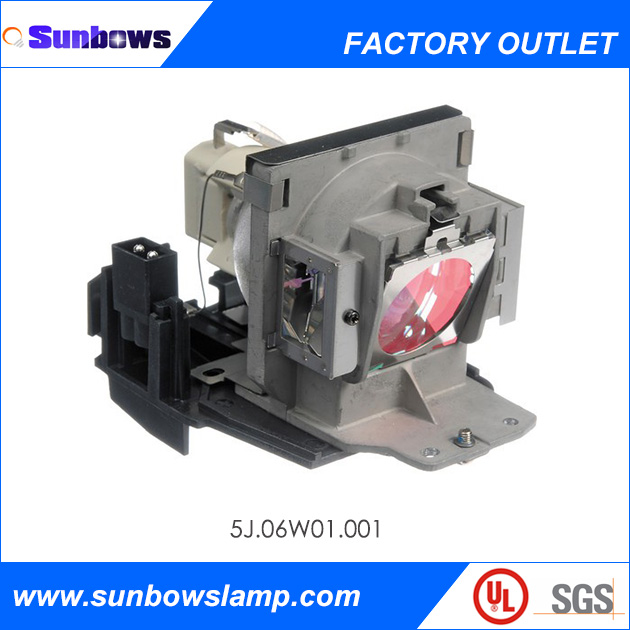 Sunbows Replacement Lamp With Housing Fit For BENQ MP723 Projector lamp code 5J.06W01.001