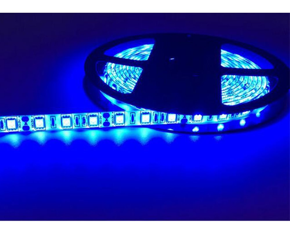 "Triangle Bulbs Ultra Bright Rope Lights LED Waterproof Flexible Strip Light, T93007-1 (1 Pack) - 25 Watt, 300 ""3528 SMD"", 12 Volt, 16.4 Feet, 6 Colors - 1 PACK (Blue)"