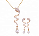 Pearl Diamond Necklace Jewelry Set 2 Gram Gold Necklace Set
