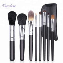 8 Pcs Makeup Brush Set Professional Wood Handle Premium Goat hair Kabuki Foundation Blending Powder Brush Tools