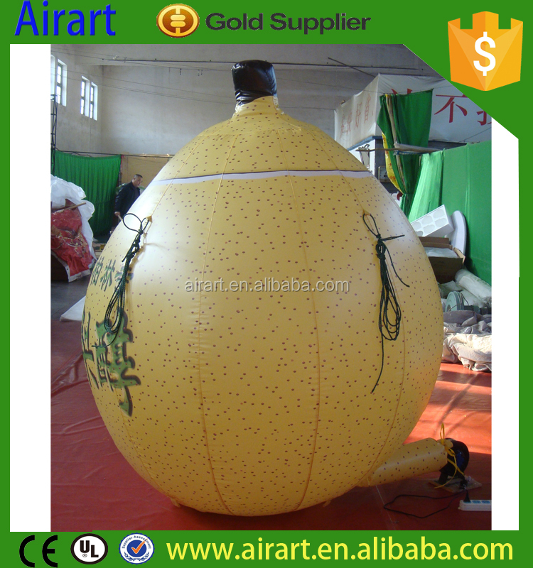 yellow advertising model fruit giant inflatable pear for Thanksgiving Day decoration