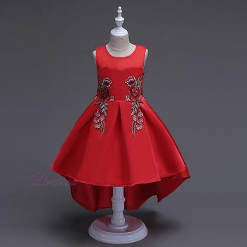 Pictures For Children Gown Long Dresses For Kids Latest Red Party ...