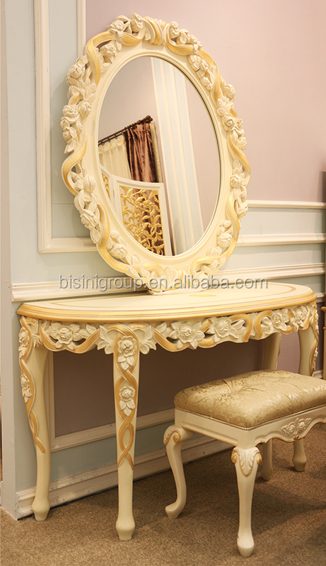 Royal Imperial Gold Carving Framed Mirror For Wall Luxury