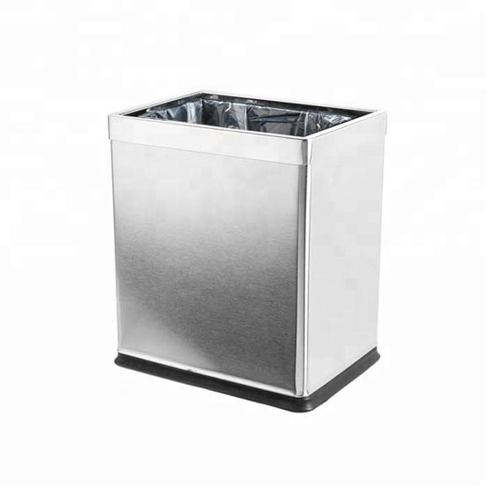 Open Top Hotel Room Stainless Steel Trash Cansmall Office Waste Bin