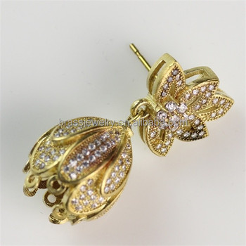 Ethnic Traditional Gold Plated Zircon Fashion Indian Gold Earrings