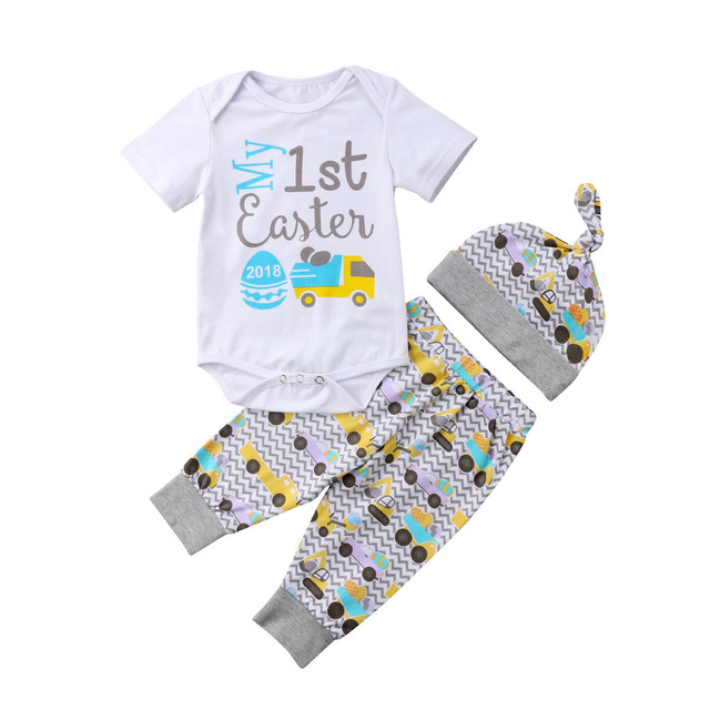 My First Easter Baby Vest All In one Bodysuit Romper 1st Easter