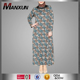 Manxun New Products Patterned Dress For Muslim Women Petrol Plus Size Basic Abaya Arabic Burqa Dress Style