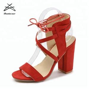 402dd324112 2018 wholesale cheap block heels fashion suede women shoes pure women high  heel shoes