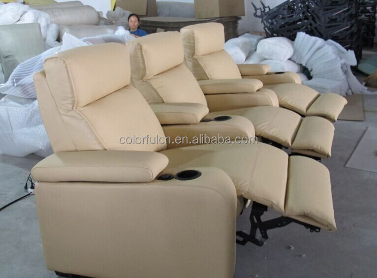 2015 New Design Cream Cheers Recliner Sofa Reclining Sofa Home