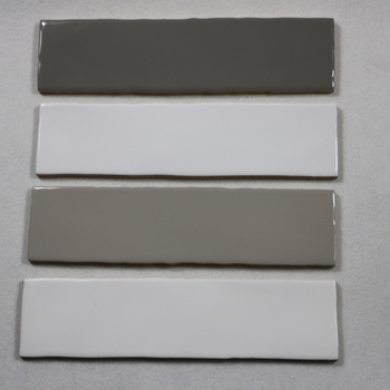 White 75 300mm Ceramic Subway Tile With Wavy Edge Decoration Building Material