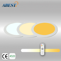 Warm White, Pure White, Cool White 10W 2.4GHz CCT Dimming Round Panel light