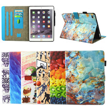 High Quality Colorful Card Slots Wallet Leather Case for ipad 2017 9.7inches , for ipad case cover