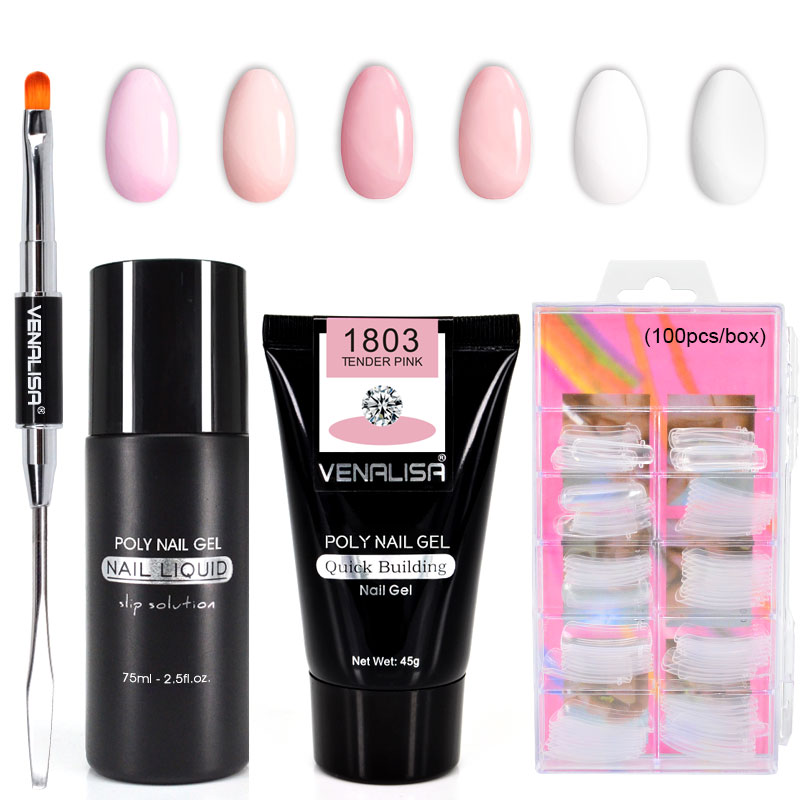 Venalisa Fast Builder nail <strong>gel</strong> 45g without logo 6 colors thick jelly canni acrylic nail extend poly <strong>gel</strong> slip solution liquid <strong>gel</strong>