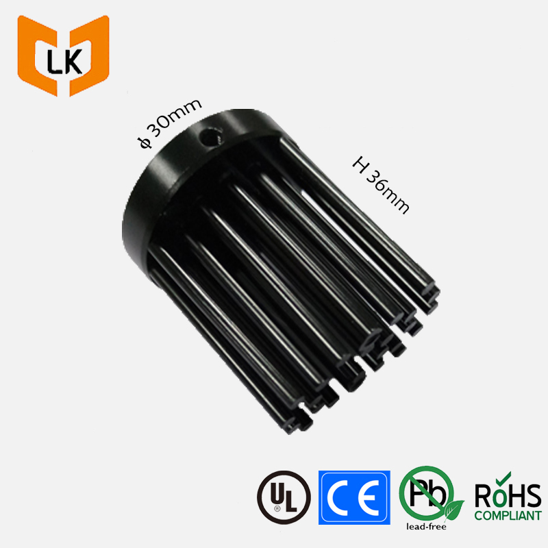 round cob led passive heatsink with pre drilled screw holes and tapped for cxb3590/clu048