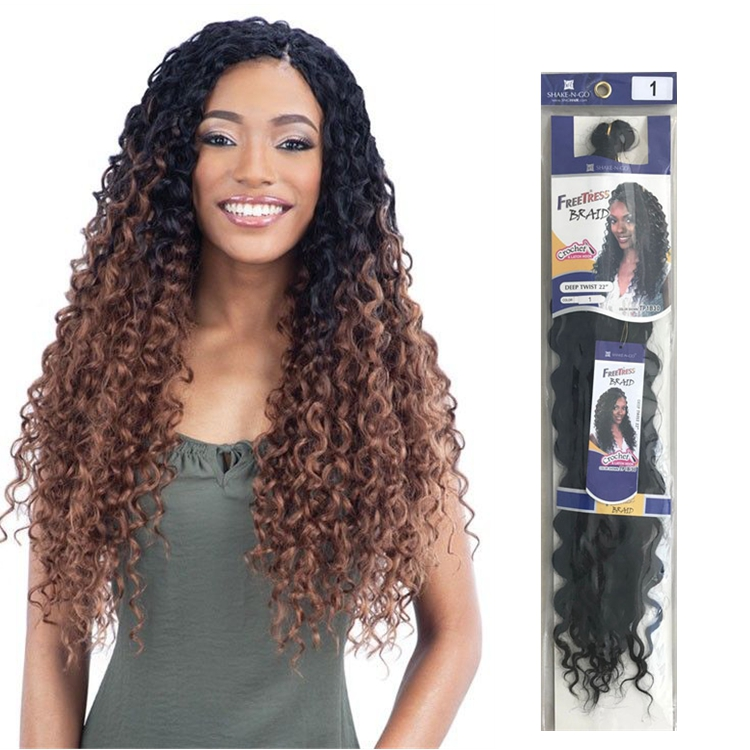 New Good Quality 22 Roots Synthetic Deep Twist Crochet Braids Hair