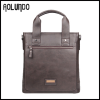 Dark brown perfect design genuine leather mens shoulder briefcase bags