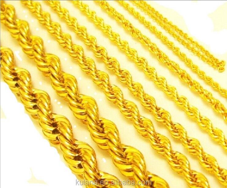 Stainless Steel Material 14K Gold Jewelry Wholesale Necklace Chain,Jewelry Making Gold Chain