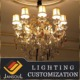 10 lights luxury colored murano art glass plate chandelier with lampshade