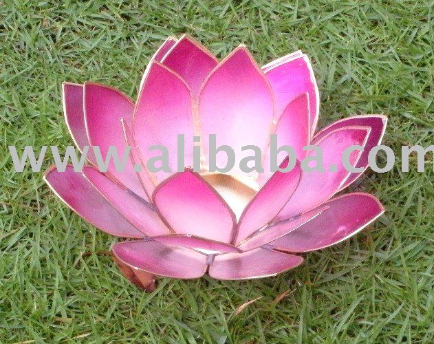 Capiz Lotus Votive Holder / Gift Item / Wedding Favor