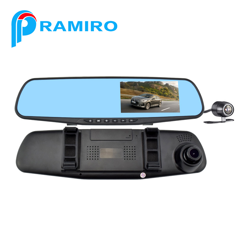 L854X latest rear view mirror backup car camera use camera for car for 4.3inch dual lens car dvr