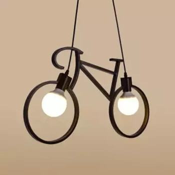 Wrought iron bicycle chandelier Modern Pendant Light for Living